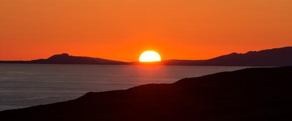 Sunset over the Isle of Skye