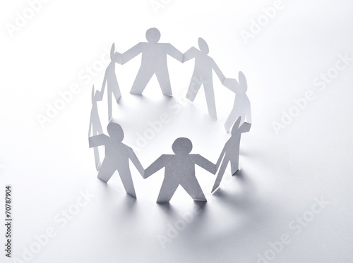 paper people community unity togetherness - 70787904