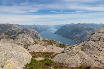 View over beautiful Lysefjord, Norway
