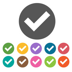 Four boxes forming a check icon. Check Mark Sign Symbol icon set