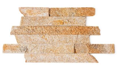Wall made of slate stone