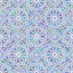 Mosaic floral seemless pattern