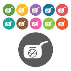 Fuel icon. Danger icon set. Round colourful 12 buttons. Vector i
