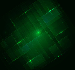Green Squares digital with Text - Vector Background