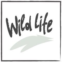 wildlife lettering