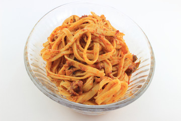 Long Noodle Pasta with tomato sauce