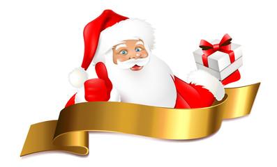 Nikolaus mit Geschenk - Signet