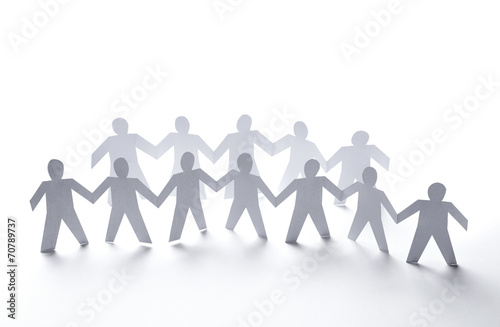 paper people community unity togetherness - 70789737