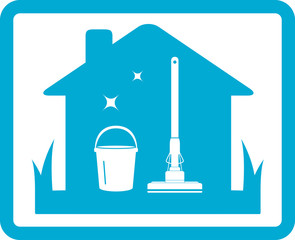 cleaning home icon