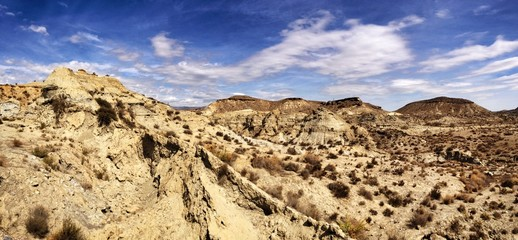 Tabernas desert in Almeria, Spain