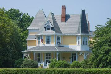 Maison jaune à Newport