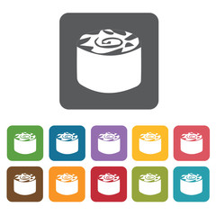 Maki icon. Attraction of japanese icon set. Rectangle colourful