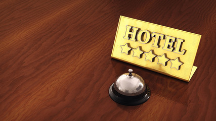 Service bell and hotel plate , Five star hotel