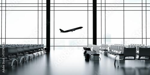 Aluminium Luchthaven airliner