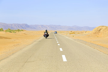 Driving in the desert in Morocco