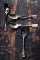 Vintage metal spoons
