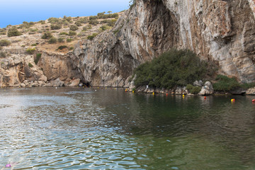 Vouliagmeni, Thermal Lake near Athen, Greece photo
