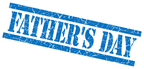 fathers day blue grungy stamp isolated on white background