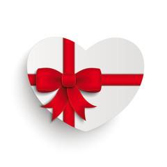 Red Cross Ribbon White Paper Heart
