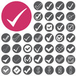 Check mark sign icons set. Vector Illustration eps10 - 70793395