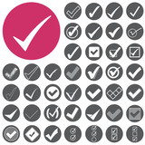 Check mark sign icons set. Vector Illustration eps10 poster