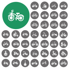 Bicycle type icons set. Vector Illustration eps10