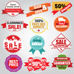 Set of luxury vector sale and bestseller badge labels. Vector Il
