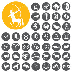Zodiac Signs symbol icons set. Vector Illustration eps10
