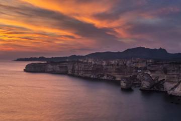 La nuit tombe sur Bonifacio