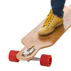 Skateboarders feet