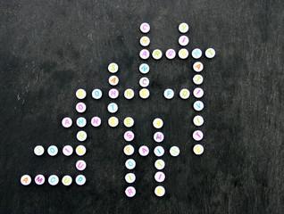 bonne année,mots croisés,fantaisie sur perles colorées