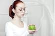 canvas print picture - female scientist in the futuristic laboratory