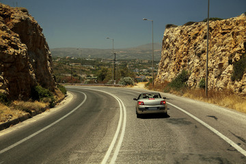 On the highway of Crete
