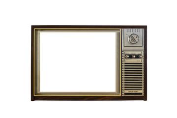 Vintage TV isolated on white background