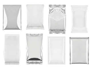 aluminum white bag package food template