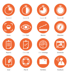 Icon Set of Business Career , Marketing in Flat Design