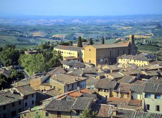 campagne autour de san gimignano, Toscane