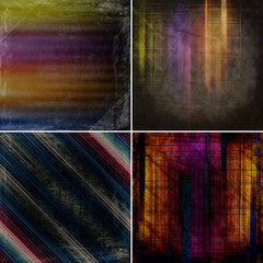 set of abstract color backgrounds
