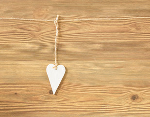Romantic paper heart for Valentines Day