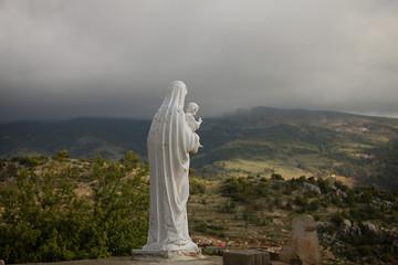 Virgin & Jesus Statue