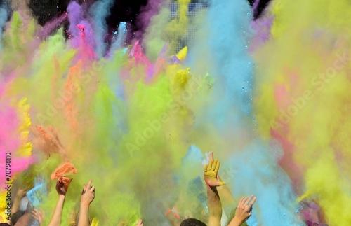 canvas print picture Holi Fest mit bunten Farben