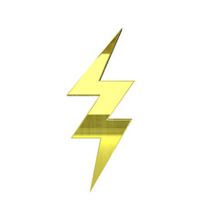 gold energy icon - 3D render