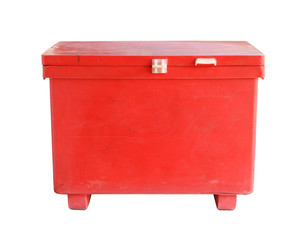 Large cooler box (with clipping path) isolated on white