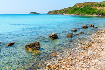 beautiful scenic coast of the Aegean Sea