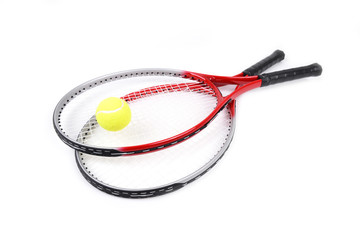 tennis racket isolated