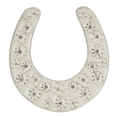 decorative horseshoe isolated on the white background