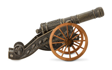 decorative cannon isolated on the white background