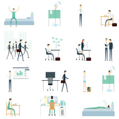 flat vector element  one day for business people worker