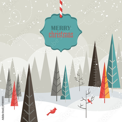 Flat design modern vector illustration for Christmas holiday