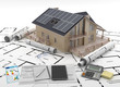 Leinwanddruck Bild - Energy efficient construction